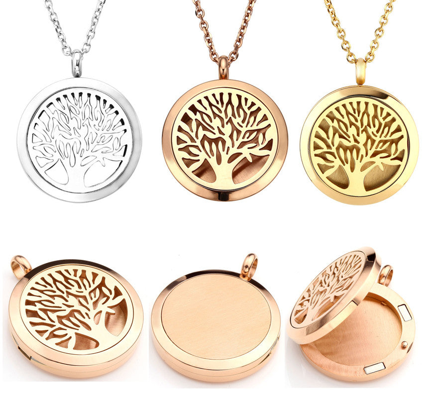 Round tree of life essential oil diffuser locket pendant necklace round tree of life essential oil diffuser locket pendant necklace aloadofball Gallery