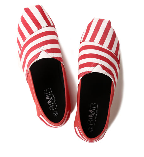 Red And White Espadrilles for Men - Rivir Shoes