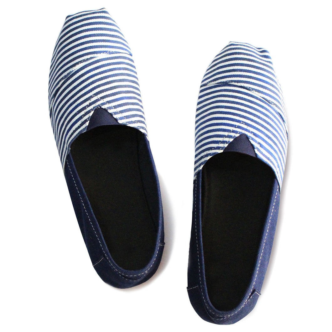 Blue Stripes Espadrilles