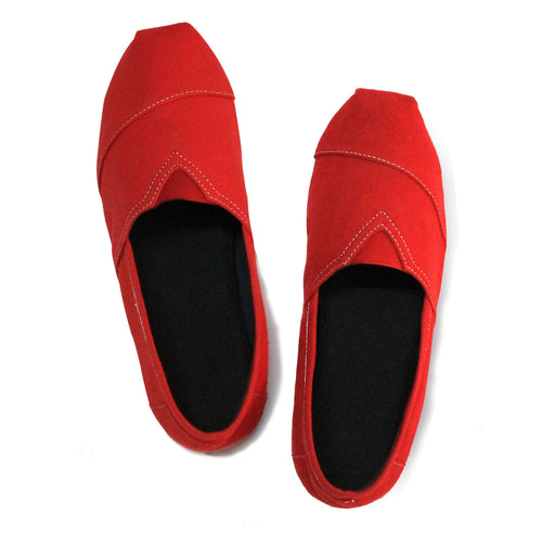 Bloody Red Espadrilles for Men - Rivir Shoes