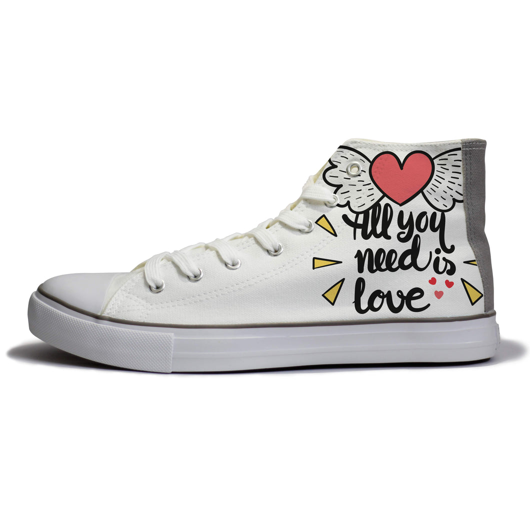 rivir-shoes - All you Need is Love : For Women - Rivir - High Top Sneakers