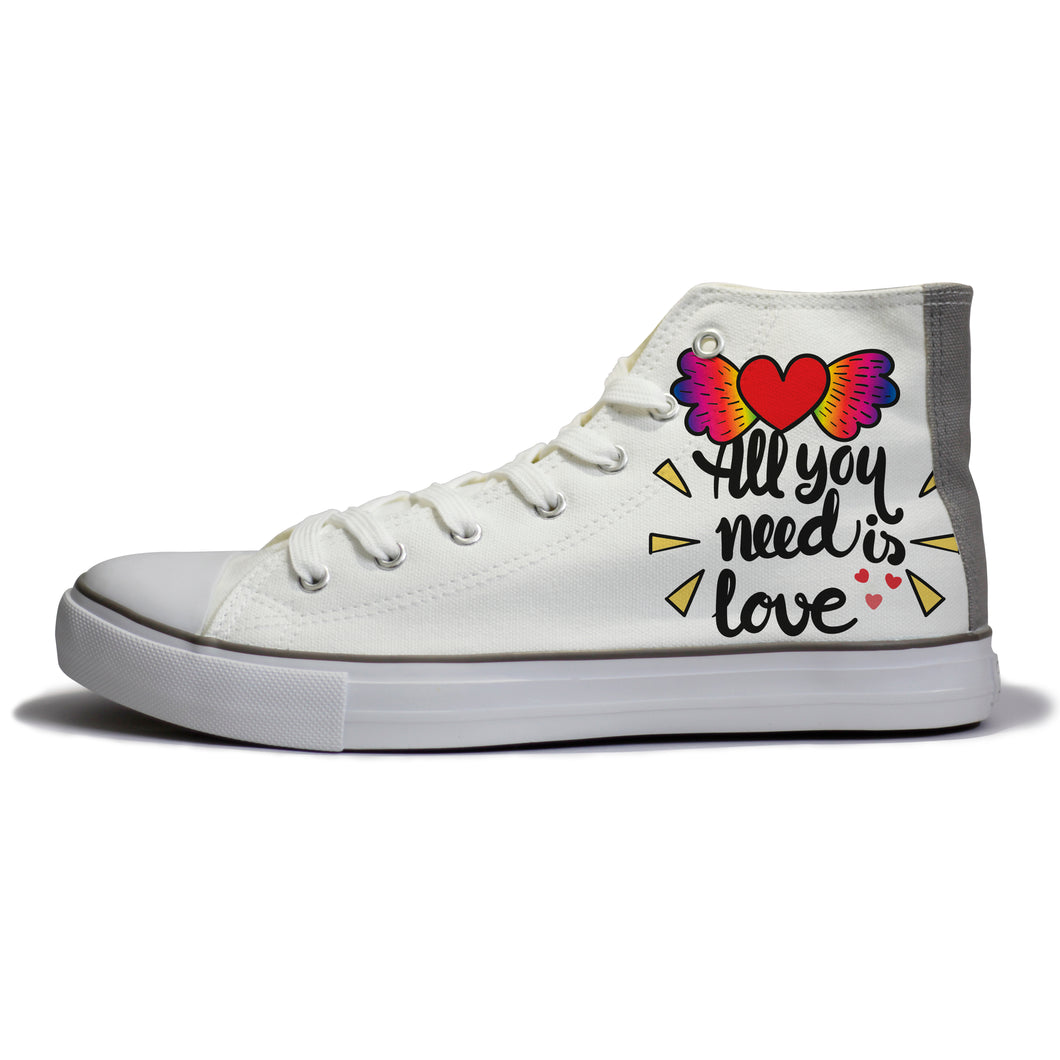 rivir-shoes - Love is all you need - Rivir Shoes - High Top Sneakers