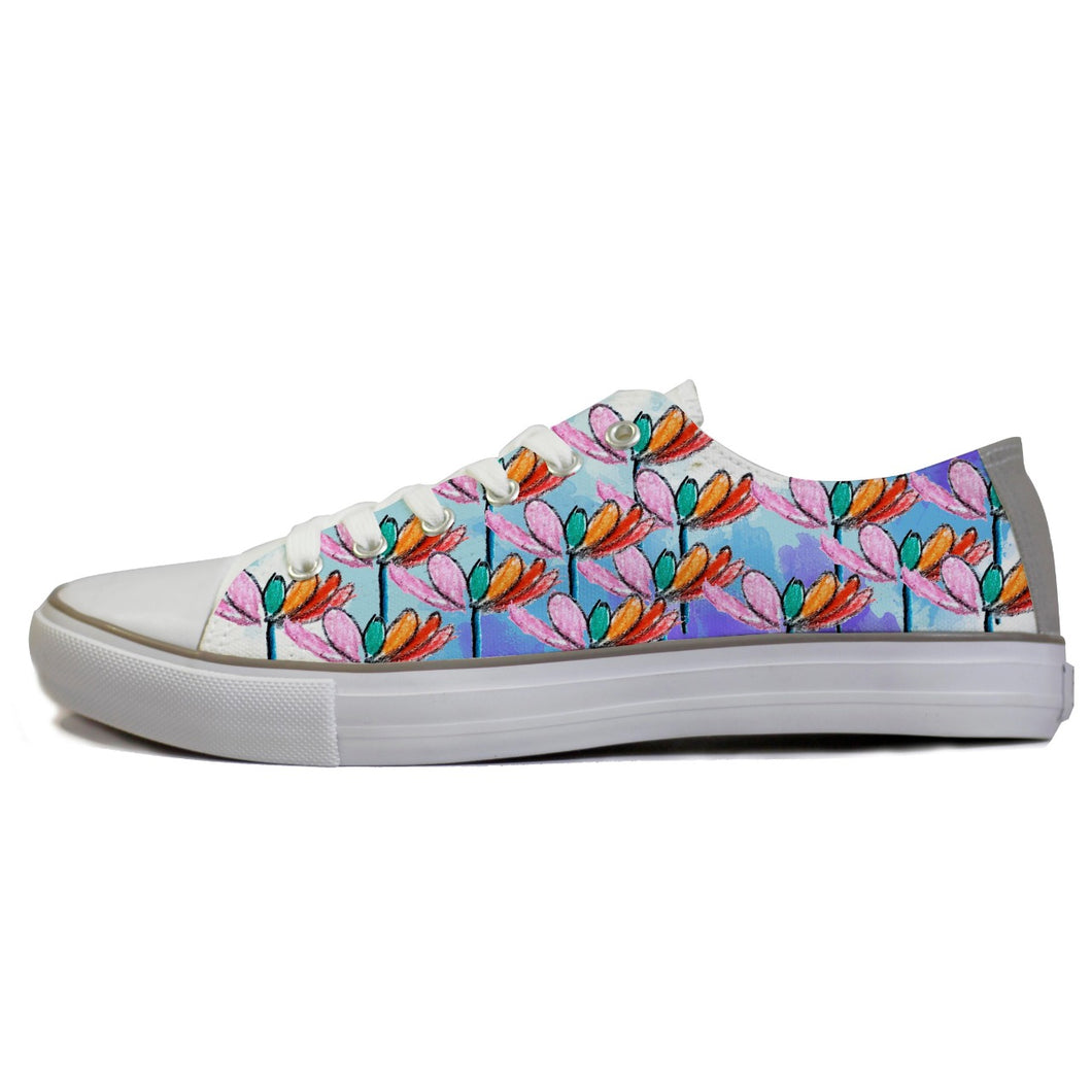 rivir-shoes - Lotus Hues : For Women - Rivir Shoes - Low Top Sneakers