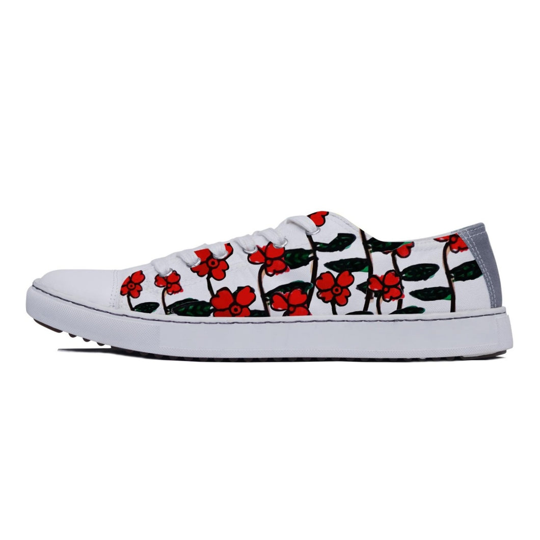 rivir-shoes - Red Roses Low - Rivir Shoes -