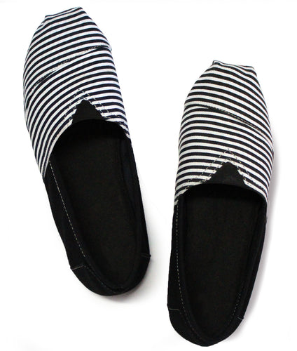 Black and White Espadrilles for Men - Rivir Shoes