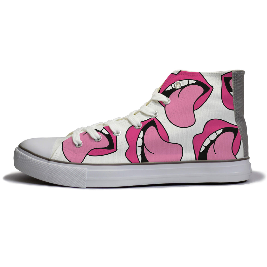 rivir-shoes - Rolling Lips : For Women - Rivir Shoes - High Top Sneakers