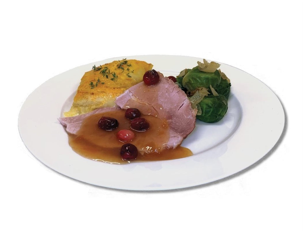 Ham With Cranberry Apricot Sauce