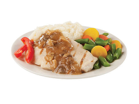 Roasted Chicken with Mushroom Sauce