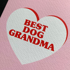 Best Dog Grandma Card