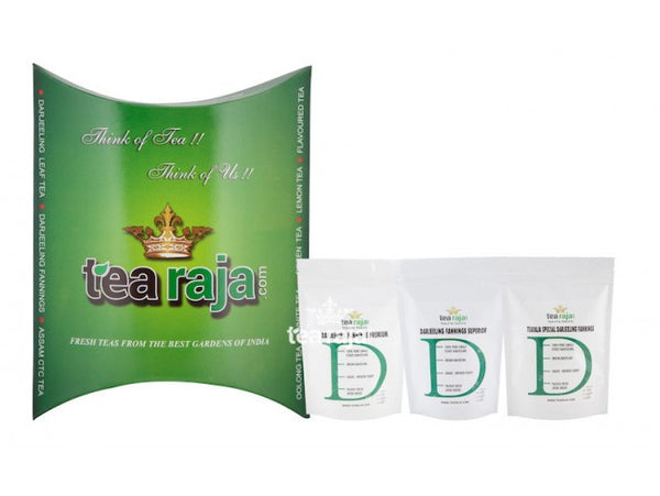 Darjeeling Fannings Tea Sample Pack(250 Gms X 3 Pack)(Makes 300 to 320 Cups)Pure & Fresh From Darjeeling