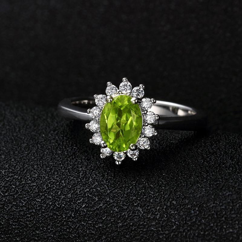 Princess Diana inspired 3.2ct Peridot S925 Ring (August)