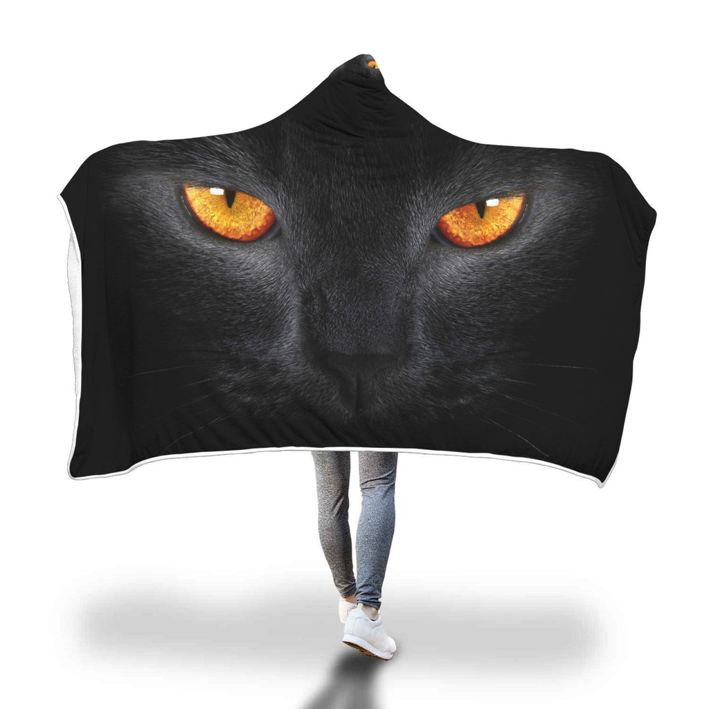 Fierce Cat Lady Hooded Blanket