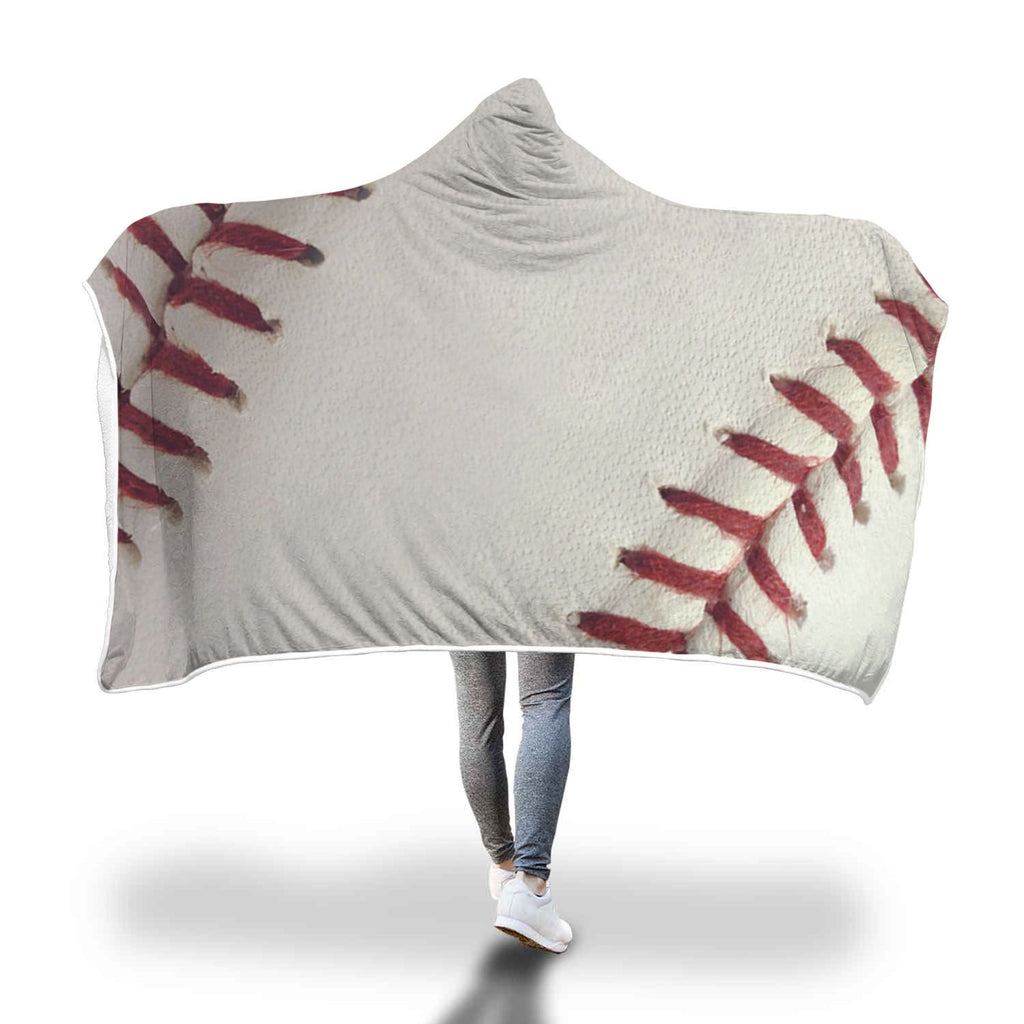 Premium Baseball Hooded Blanket