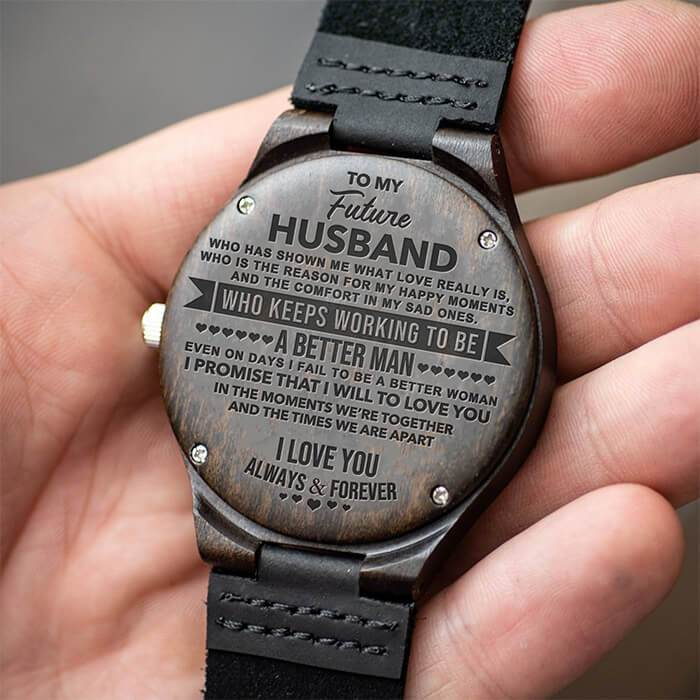 To My Future Husband - The Promise - Wood Watch
