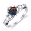 925 Sterling Silver Fire Opal Ring (October)