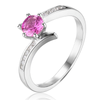 Genuine 0.7CT Tourmaline S925 Silver Ring (October)