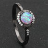 Round Opal Birthstone Ring (October)