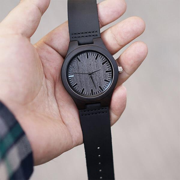 December Legends - Black Ebony Wood Watch