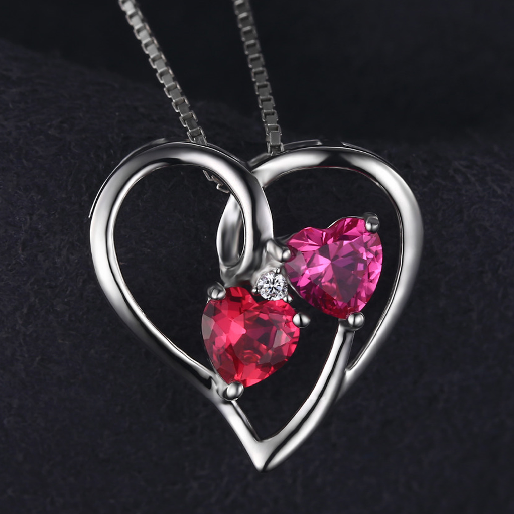 Genuine 1.2ct Red and Pink Ruby Pendant (July)