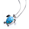 October Opal Turtle Pendant Necklace