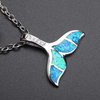 October Opal Whale Pendant Necklace