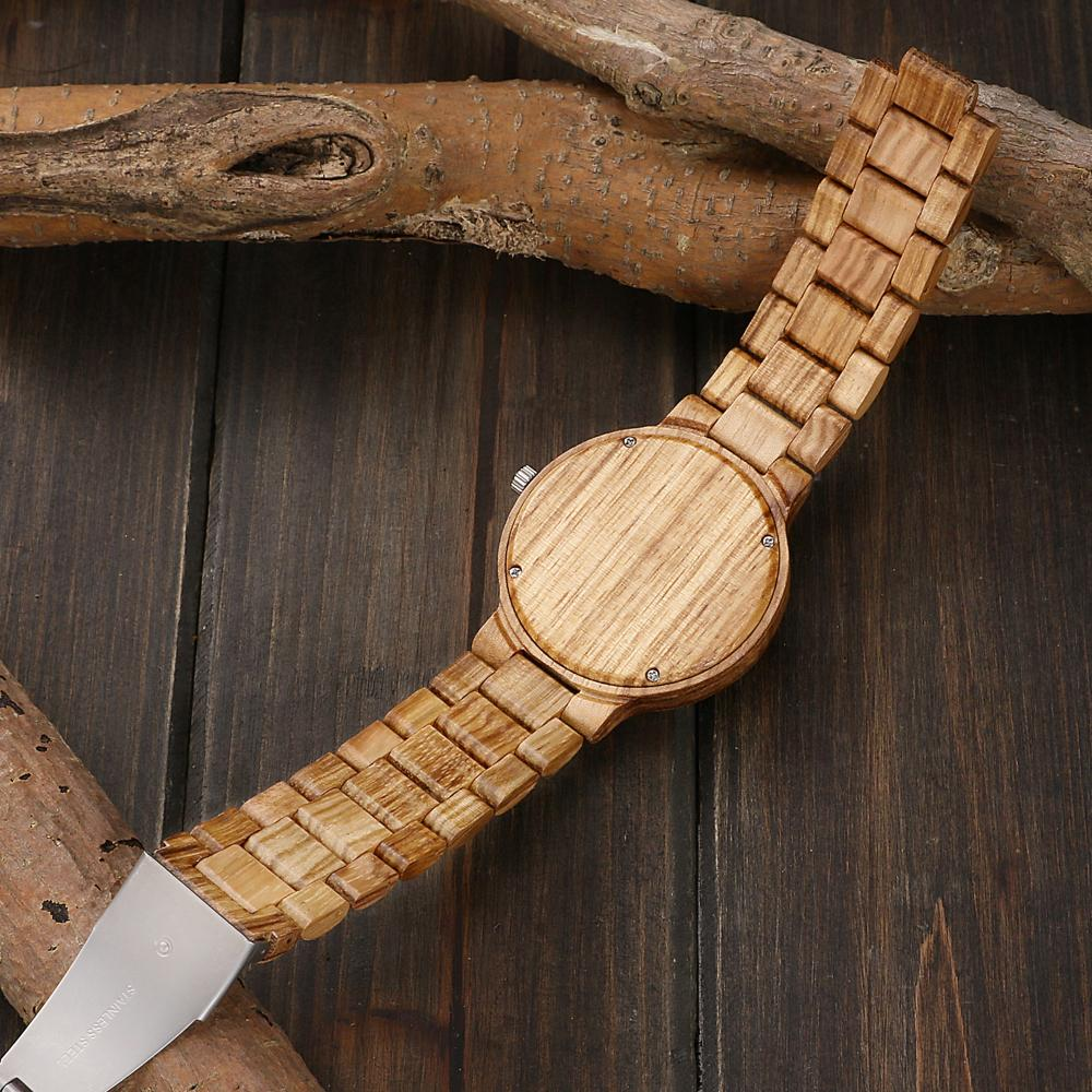 Mom Loves Daughter Wood Watch