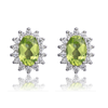 PRINCESS DIANA GENUINE 1.2CT PERIDOT EARRINGS (August)