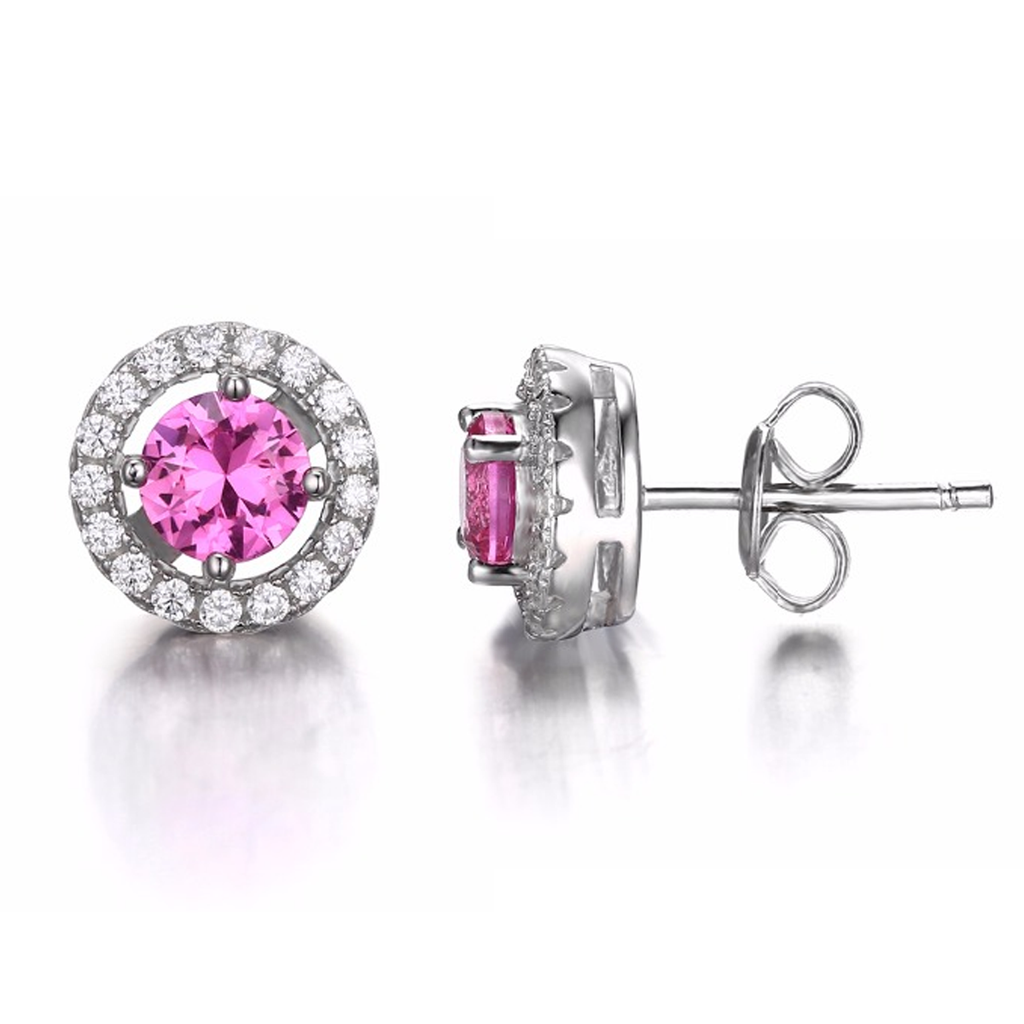 Genuine 1.4ct Tourmaline Stud Earrings (October)