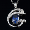 December Tanzanite Dolphin Necklace