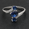September Birthstone 1.2ct Sapphire 925 Sterling Silver Ring