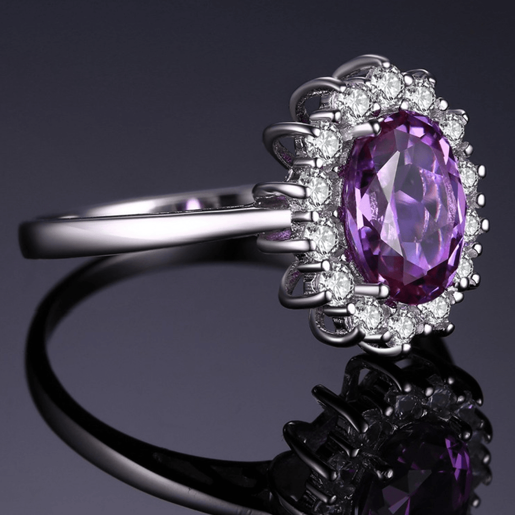 Princess Diana Inspired 3.2CT Amethyst S925 Ring