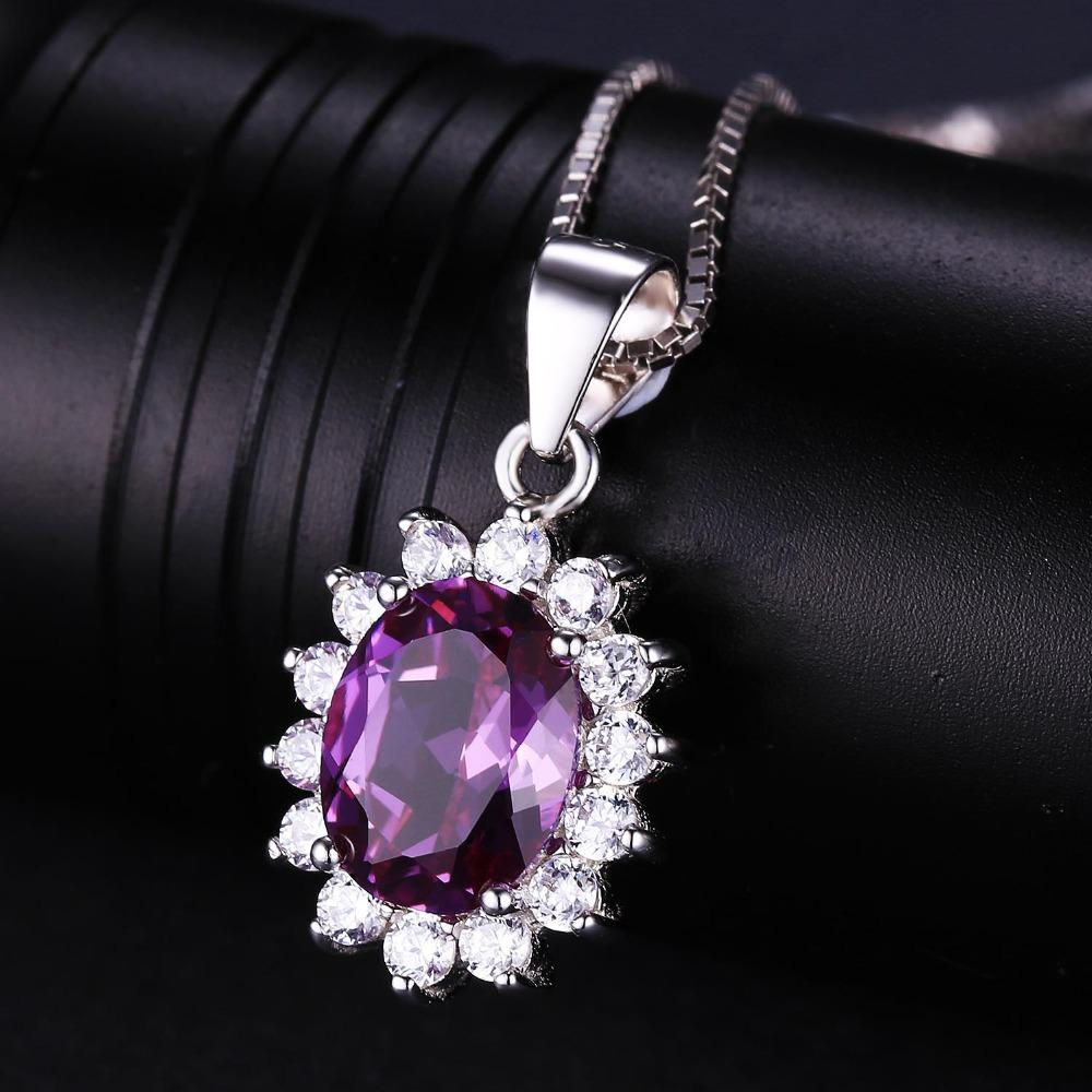 Princess Diana inspired 1.8ct Alexandrite S925 Pendant Necklace (June)