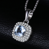 0.8ct Natural Aquamarine Pendant Necklace