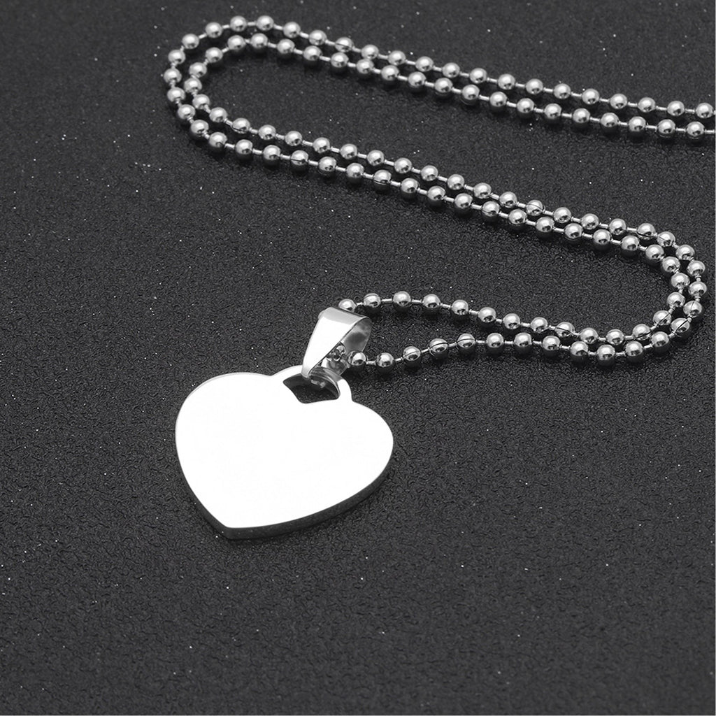 Custom-Engraved Heart Pendant Necklace