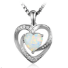 Genuine 2.6ct Opal Pendant Necklace (October)