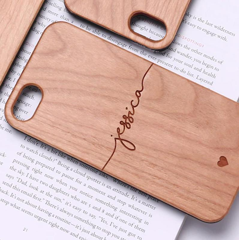 Engrave-Your-Name Wooden iPhone Case
