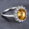 Princess Diana inspired 3.2CT Citrine S925 Ring (November)