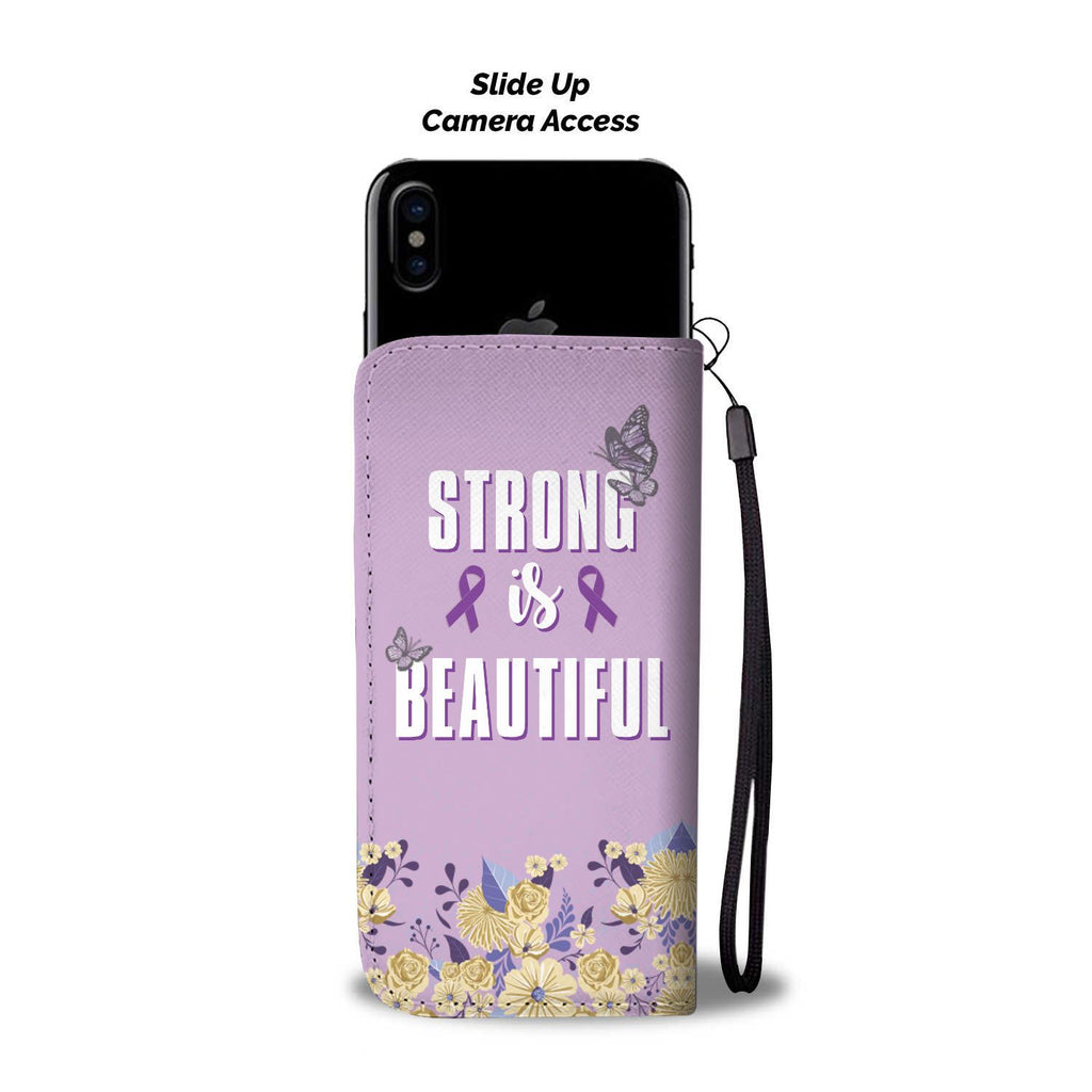 The Purple Ribbon Wallet Phone Case