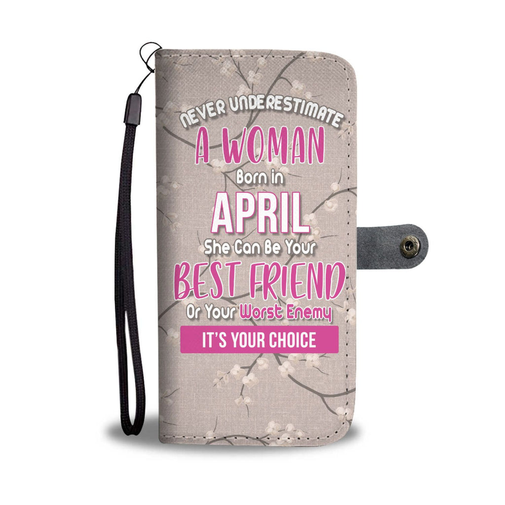 April Queen Wallet Phone Case