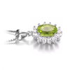 PRINCESS DIANA GENUINE 2.2CT PERIDOT 925 PENDANT NECKLACE (August)