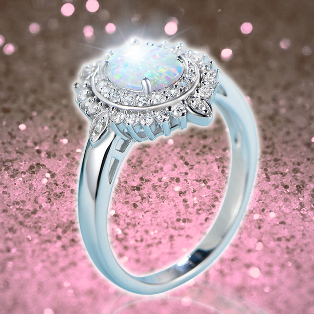 Premium Opal Birthstone Ring (October)