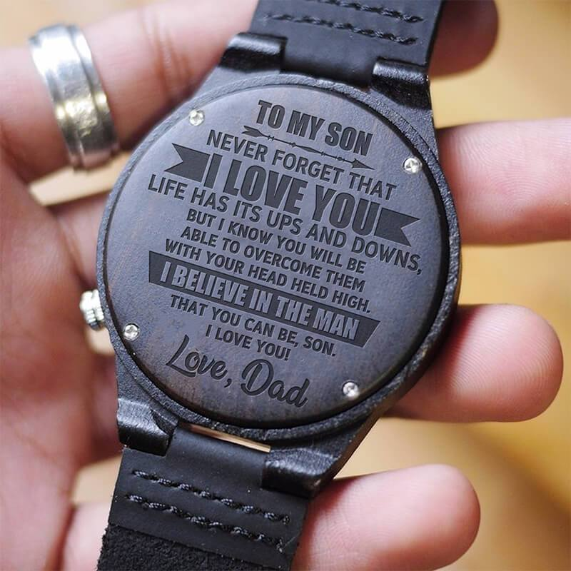 I Believe In You Son - From Dad - Wood Watch