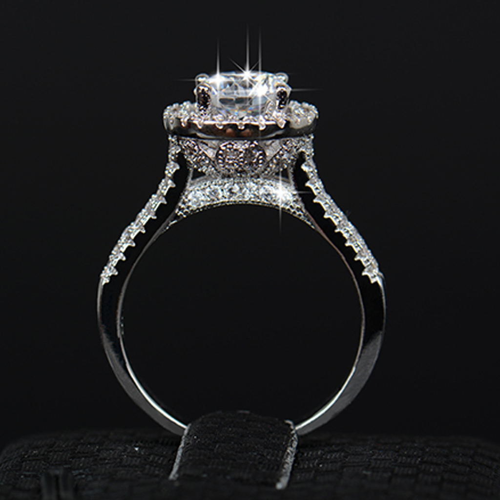 Enchanted Halo Diamond Ring (April)