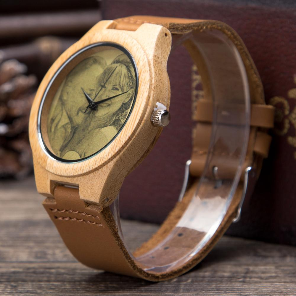 Unique Leather Wood Watch for Couples (Set of 2 Watches)