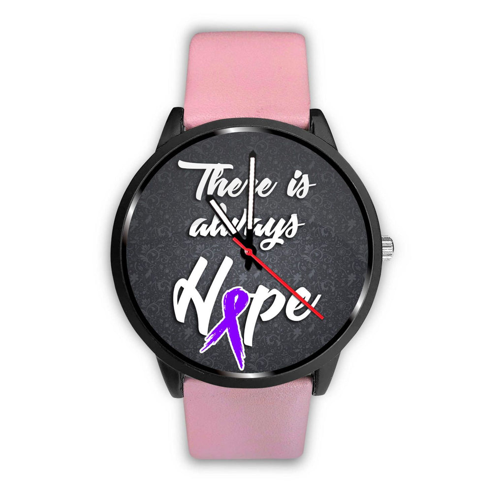 Fibromyalgia Awareness - Premium Watch (There is always hope)