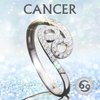 Sterling Silver Cancer Zodiac Ring