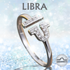Sterling Silver Libra Zodiac Ring