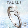 Sterling Silver Taurus Zodiac Ring