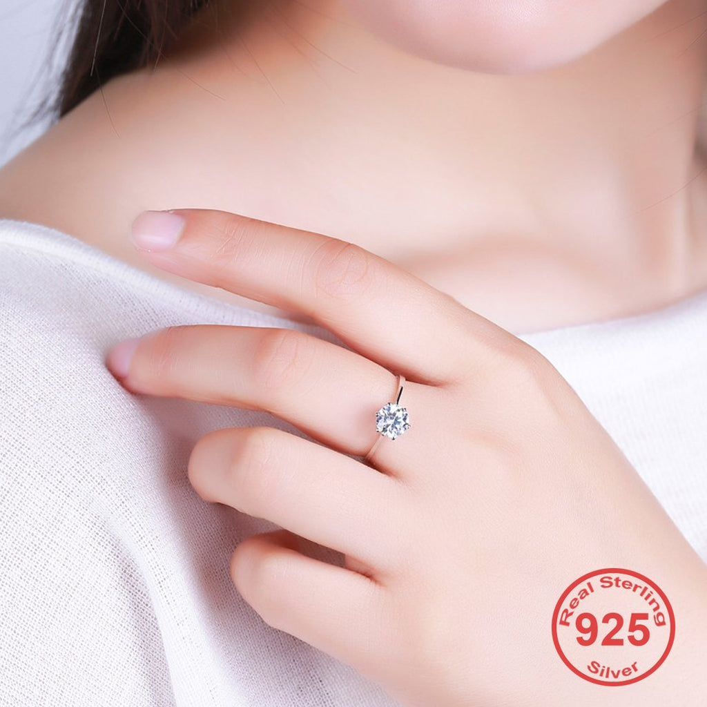 April Birthstone S925 Diamond cz Ring
