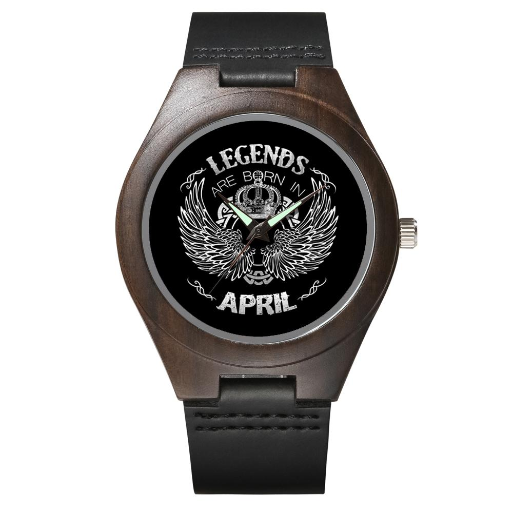 April Legends - Wood Watch